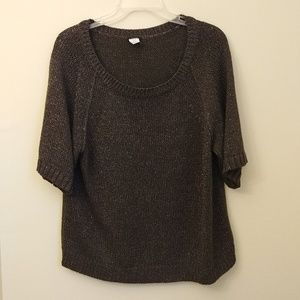 J.Crew Metallic slouch sweater gray dark size L